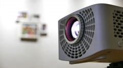 Closeup of Beam projector - stock footage