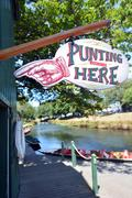 Punting on the Avon river Christchurch - New Zealand Stock Photos