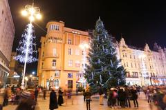 Advent on central Jelacic Square - stock photo