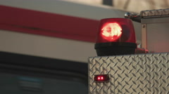 Red Fire Truck Siren Flashing. Close Up. Stock Footage