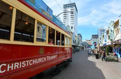 Stock Photo of Christchurch Tramway tram system  - New Zealand