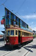Christchurch Tramway tram system  - New Zealand - stock photo
