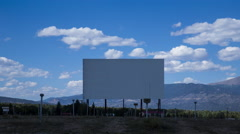 Colorado Drive-In during Day with Clouds, Wide Stock Footage