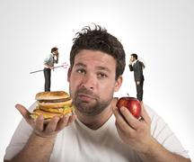 Diet guilty conscience - stock photo