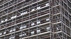 Trusses on a building Stock Footage