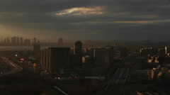 Toronto Humber Bay and Liberty Village Skyline at Sunset. Stock Footage