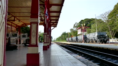 Hua Hin Railway Station Stock Footage