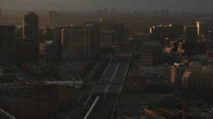 Toronto Liberty Village and West End Skyline at Sunset. Stock Footage