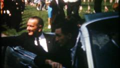 2982 - president Lyndon B Johnson in small town parade - vintage film home movie Stock Footage