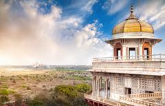 Taj Mahal and Agra Fort Stock Photos