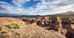 Charyn canyon in Kazakhstan - stock photo