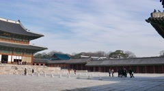 Injeongjeon in Changdeokgung palace Stock Footage