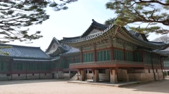 Back of the Daejojeon in Changdeokgung Stock Footage
