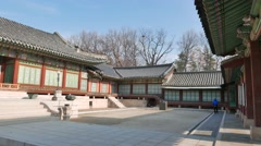 Daejojeon in Changdeokgung Stock Footage