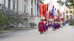 Changing of the guards ceremony of Deoksugung Stock Footage
