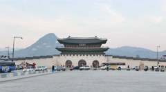 Gwanghwamun Gate Stock Footage