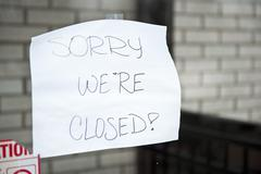 Sorry We're Closed - stock photo