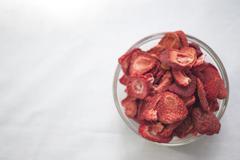 Freeze Dried Strawberries - stock photo