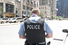 Policeman in Chicago Stock Photos