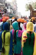 Stock Photo of Religious Gathering of Sikhs