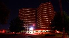 Oklahoma County Jail at Night - stock footage