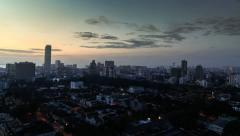 Sunrise time-lapse of George Town City in Penang, Malaysia Stock Footage