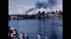Rowing Regatta Queensland Australia 1954 - stock footage