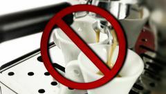 No coffee machine allowed Stock Footage