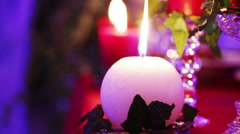 Christmas decoration table Stock Footage