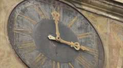 The Clock of the Clock Tower, Sighisoara Stock Footage