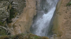 Close up of a famous waterfall: Horses Waterfall Stock Footage