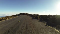 Driving down 10.000 ft in Haleakala National Park, Maui, Hawaii. Stock Footage