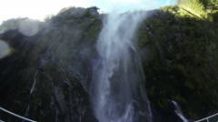 River waterfall. New Zealand, Southern Island Stock Footage