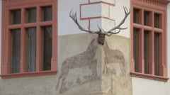 The House with Stag, Sighisoara Stock Footage