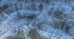 View of a small waterfall at Belfountain, Canada Stock Footage