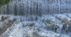 Great waterfall view at Belfountain, Canada Stock Footage