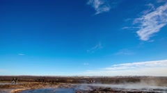 Strokkur geysir eruption Stock Footage