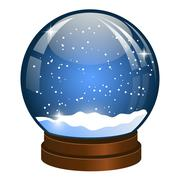 Christmas Snow globe with the falling snow - stock illustration
