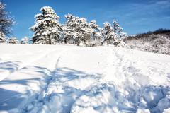 Snowy mountains, winter scene in Slovak republic Stock Photos