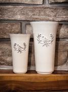Two ceramic artistic vases - stock photo
