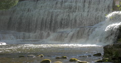 Bottom of the waterfall at Belfountain, Canada Stock Footage