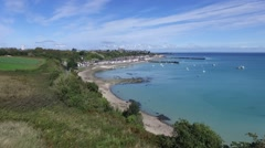 Cancale, french Britain,sea and city with drone 10 Stock Footage