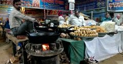 Pushkar Local Street Bazaar Stock Footage
