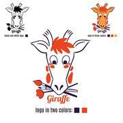 Stock Illustration of Logo giraffe face vector.