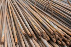 Division rebar used in construction,Scrap steel construction - stock photo