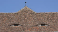 Eyed roof in Fagaras fortress Stock Footage