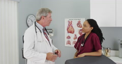 Doctors talking in the office - stock footage