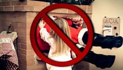 No Santa Claus allowed Stock Footage