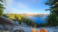 Crater lake timelapse Stock Footage
