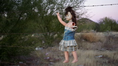 Doll Horror Hanging Handheld Long Stock Footage
